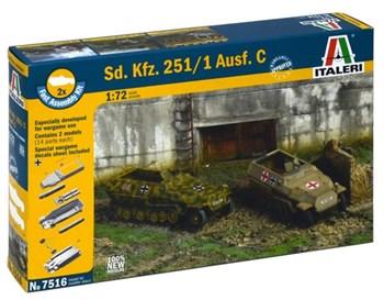 Купите БТР Sd.Kfz.251/1 Ausf.C  (2 быстросборные модели) (1:72) в интернет-магазине «Лавка Орка». Доставка по РФ от 3 дней.