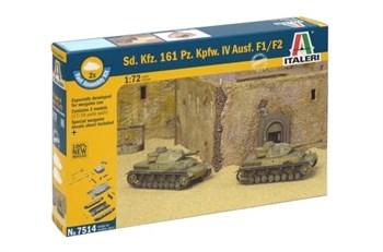 Купите Танк  Sd.Kfz.161 Pz.Kpfw.IV F1-F2  (2 быстросборные модели) (1:72) в интернет-магазине «Лавка Орка». Доставка по РФ от 3 дней.