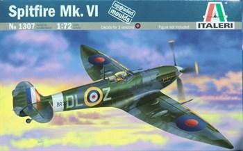 Комплектация:  набор деталей для сбора модели Самолёт Supermarin Spitfire Mk.VI (1:72) декали инструкция со схемой сборки