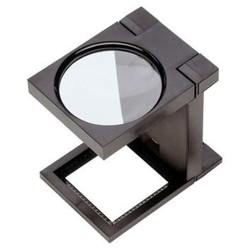 """Лупа ЗУБР """"МАСТЕР"""" складная на подставке, светодиодная подсветка, 5 кратное увеличение, диаметр 50мм"""