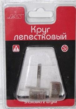 Круг лепестковый, d 20 х 5 мм, зерно Р  80, 2 шт./уп., блистер