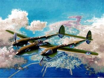"""Купите Самолет  P-38F """"Лайтнинг"""" (1:48) в интернет-магазине «Лавка Орка». Доставка по РФ от 3 дней."""