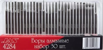 Боры алмазные, набор 30 шт., Lux
