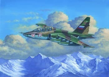 Самолёт  Су-25УБ (1:32)