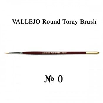 Round Toray Brush Triangular Handle No.0