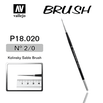 Купите кисть Kolisnky Sable Brush No.2/0 в интернет-магазине «Лавка Орка». Доставка по РФ от 3 дней.