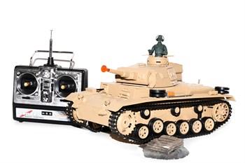 Радиоуправляемый танк Heng Long Tauch Panzer III Ausf H масштаб 1:16 2.4G