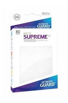 Ultimate Guard - Белые матовые протекторы 80 штук в коробочке