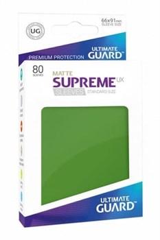 Ultimate Guard - Зеленые матовые протекторы 80ук в коробочке