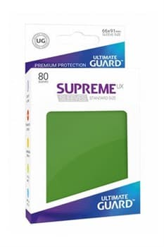 Ultimate Guard - Зеленые протекторы 80ук в коробочке