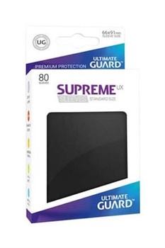 Ultimate Guard - Черные протекторы 80 штук в коробочке
