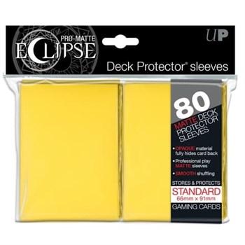 Ultra Pro - Желтые матовые протекторы PRO-Matte Eclipse 80 штук