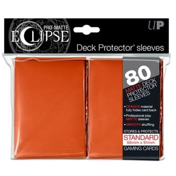 Ultra Pro - Оранжевые матовые протекторы PRO-Matte Eclipse 80 штук