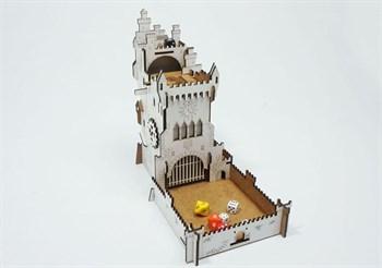 Настольная игра Башня для бросания кубиков (Dice Tower). Белый замок