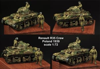 1:72 POLISH RENAULT R35 CREW SET