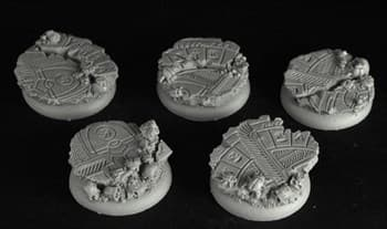EGYPTIAN RUINS 30MM ROUND EDGE-ROUND BASES #1 (5)