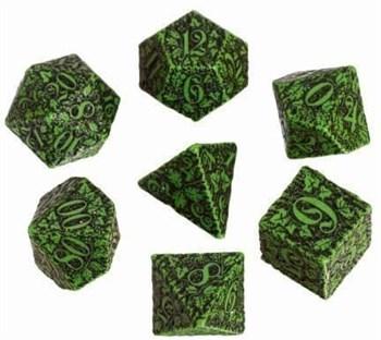 Набор кубиков «Dwarven Dice» зелёно-чёрный