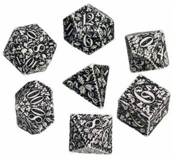 Набор кубиков «Dwarven Dice» Бело-чёрный