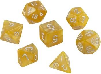Набор кубиков Role Playing Set — Flash Yellow 7 шт, 16 мм