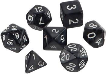 Набор кубиков Role Playing Set — Black Fog 7 шт, 16 мм