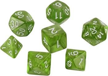 Набор кубиков Role Playing Set — Emeraid Green 7 шт, 16 мм
