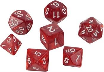 Набор кубиков Role Playing Set — Charming Red 7 шт, 16 мм