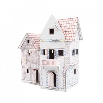 """Сборный домик-раскраска из картона """"Пекарня"""""""