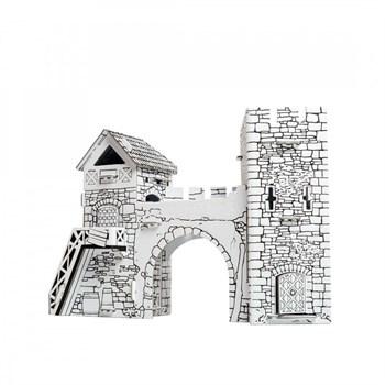 """Сборный домик-раскраска из картона """"Старые ворота"""""""