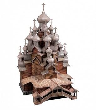 Сборная модель. Серия: Архитектурные памятники. Масштаб 1/100. Церковь Преображения Господня (о. Киж