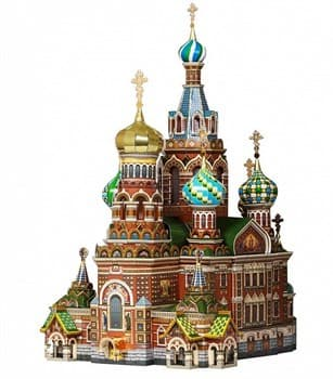 Сборная модель из картона. Серия: Архитектурные памятники. Масштаб 1/200. Спас на Крови