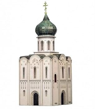 """""""Церковь Покрова на Нерли"""" XII век .Сборная модель из  картона. Масштаб HO 1/87"""