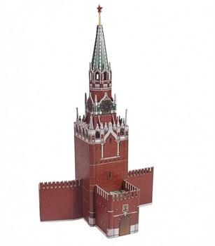 Сборная модель из переплетного картона. Серия: Архитектурные памятники. Спасская башня.