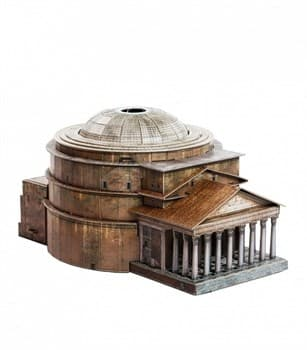 """""""Римский Пантеон"""". Сборная модель из картона. Масштаб 1/400"""