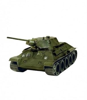 Сборная модель из картона. Серия: Бронетехника. Масштаб 1/35. Танк Т-34 обр. 1941 г. (зеленый)