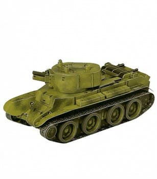 Сборная модель из картона. Серия: Бронетехника. Масштаб 1/35. Танк БТ-7 артиллерийский
