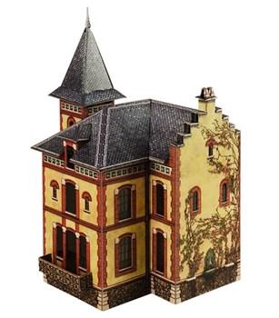 """Вилла в Виллемомбле"". Сборная модель из картона. Масштаб НО 1/87"