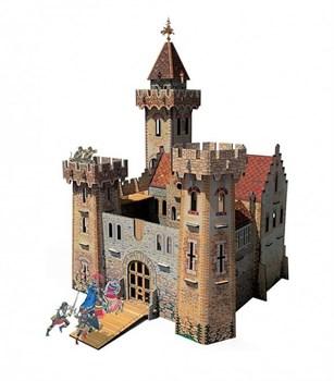 """Игровой набор из картона (сборный замок с героями). """"Рыцарский замок""""."""