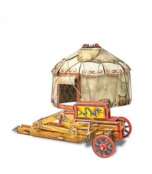 """Сборная игрушка из картона. """"Осадный лагерь кочевников"""""""