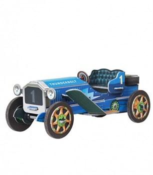 """Сборная игрушка из картона """"Машинка (синяя)"""""""