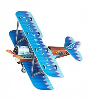 """Сборная игрушка из картона """"Самолетик (синий)"""""""