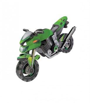 """Объемный пазл. Сборная игрушка """"Мотоцикл"""". Материал: картон + изолон. Формат: mini"""