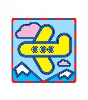 """Плоская пиктограмма """"Самолет"""". Серия: Развивающие игры. Материал: картон + изолон"""