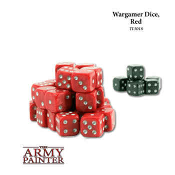 Tool: Wargaming Dice: Red+Black(30+6)