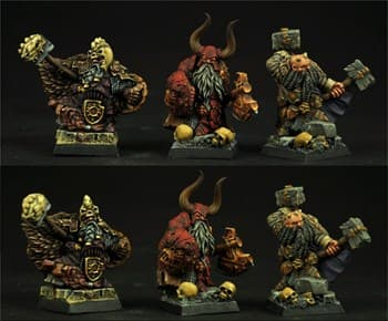 3 Moscals Dwarves Chiefs set