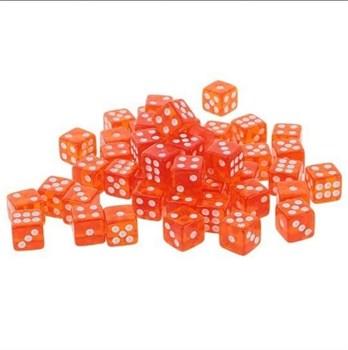 Кубик D6 красный кристальный малый.