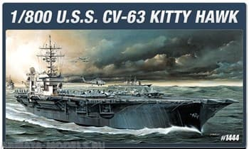 Корабль  Uss Cvn-63 Kitty Hawk  (1:800)
