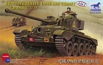 Танк  British Cruiser Tank A34 Comet (1:35)