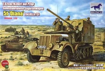 САУ  7.62cm FK36(r) auf PzJgr Selbstfahrlafette Zugkraftwagen 5t Diana (Sd.Kfz 6/3) (1:35