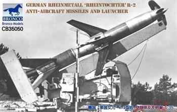 "Ракета  German Rheinmetall ""Rheintochter"" R-2 Anti-Aircraft Missiles and Launcher (1:35)"