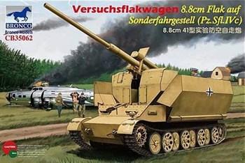 САУ  Versuchsflakwagen 8.8cm Flak auf Sonderfahrgestell (Pz.Sfl.IVc) (1:35)